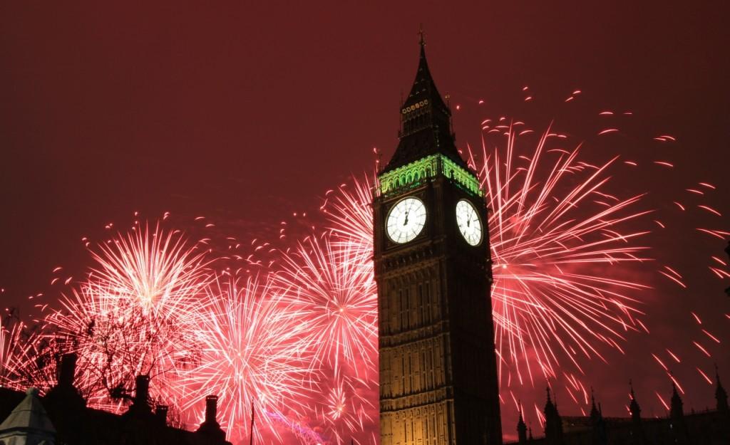 capodanno Londra fuochi d artificio