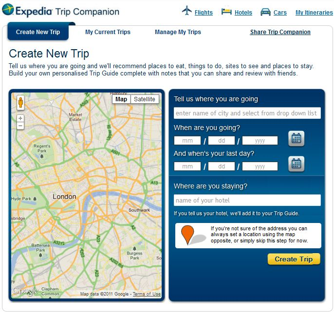 expedia trip companion facebook app