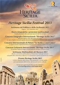 Locandina Heritage Sicilia Festival bassa risoluzione